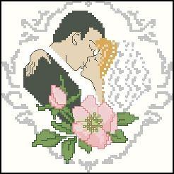 Схема вышивки крестиком жених и невеста